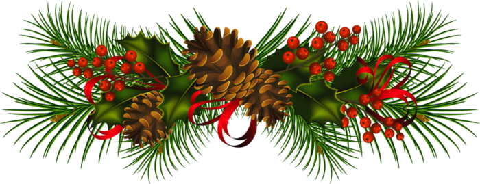 Transparent Christmas Pine Cones PNG Clipart.