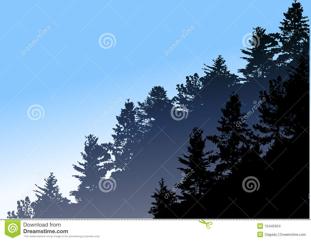 Pine forest clipart.