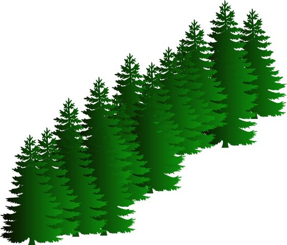 Green Fir Tree Style Christmas Mustaches Clipart.