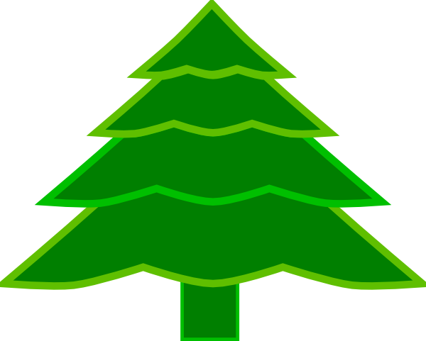 4 Layer Fir Tree Clip Art at Clker.com.