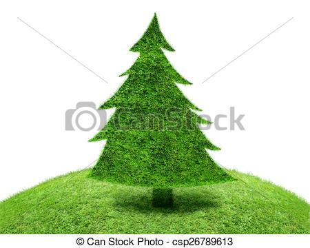 Clipart of Green fir tree\.
