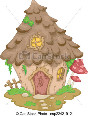 Vector Clip Art of Gnome House.