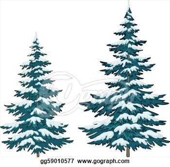 Pine Tree With Snow Clipart.