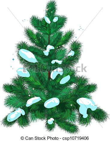 Fir Tree Clipart With Snow.