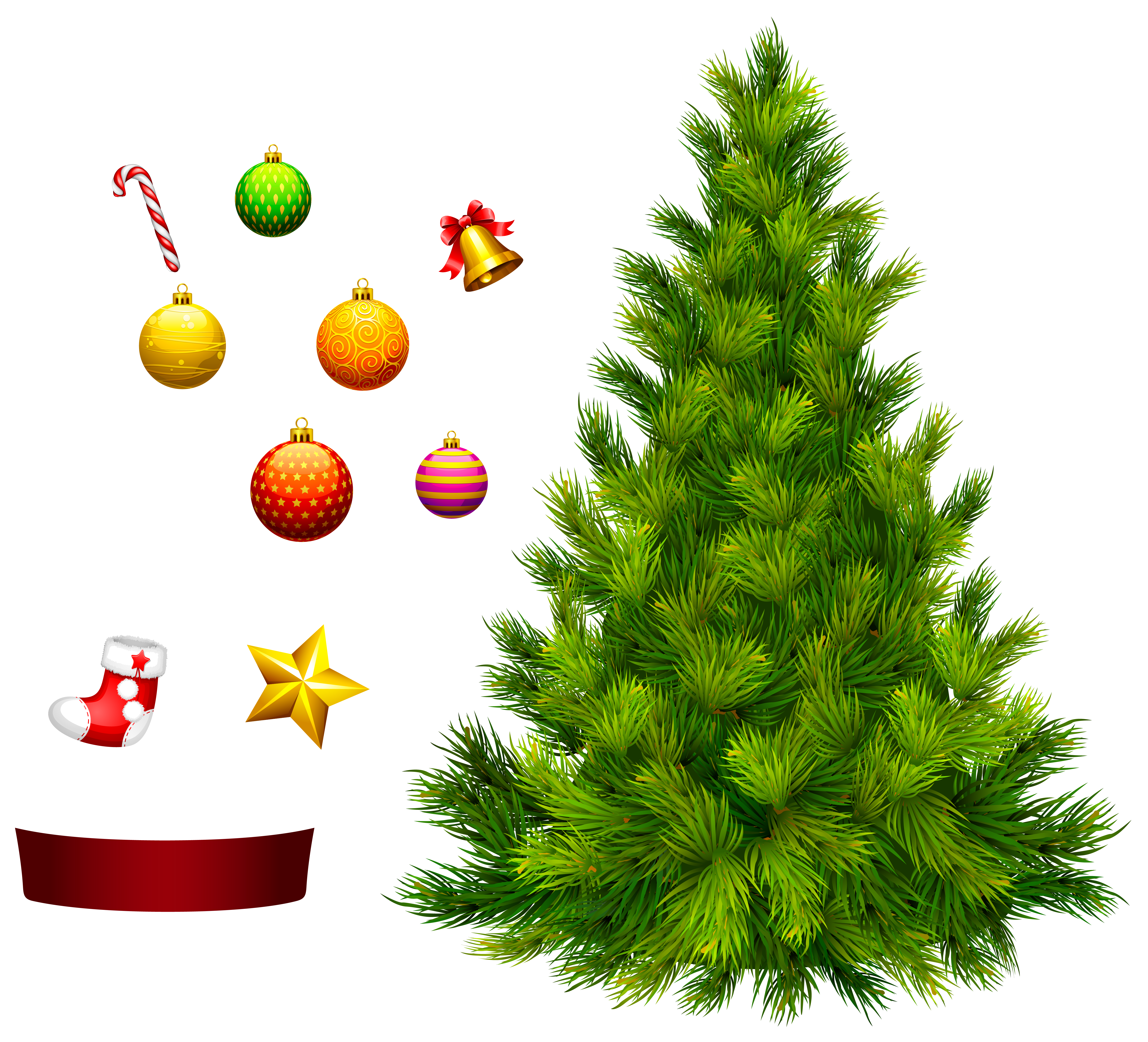 Xmas Tree for Decoration PNG Clipart.