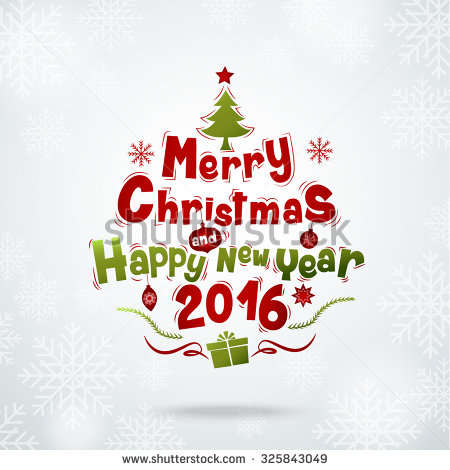 Happy new year 2016 clipart for email.