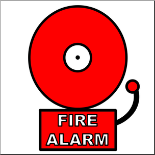 Clip Art: Fire Alarm Color I abcteach.com.