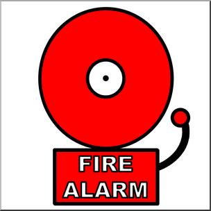 Clip Art: Fire Alarm Color I abcteach.com.
