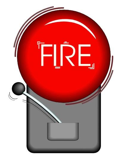 Fire alarm clipart.