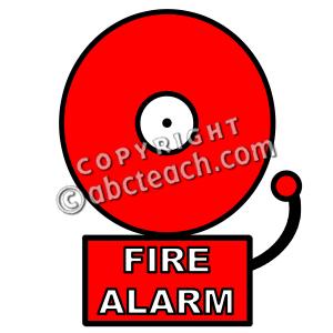Clip Art: Fire Alarm Color.