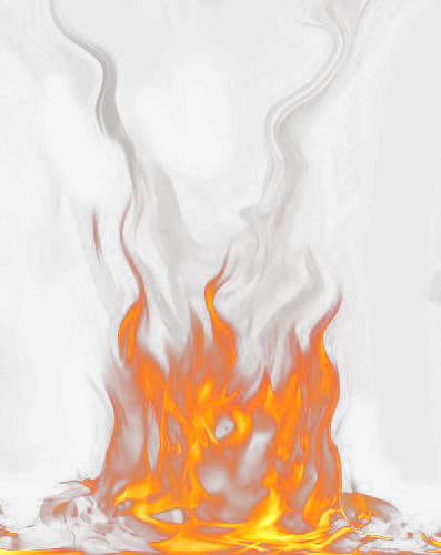 Fire smoke PNG clipart.