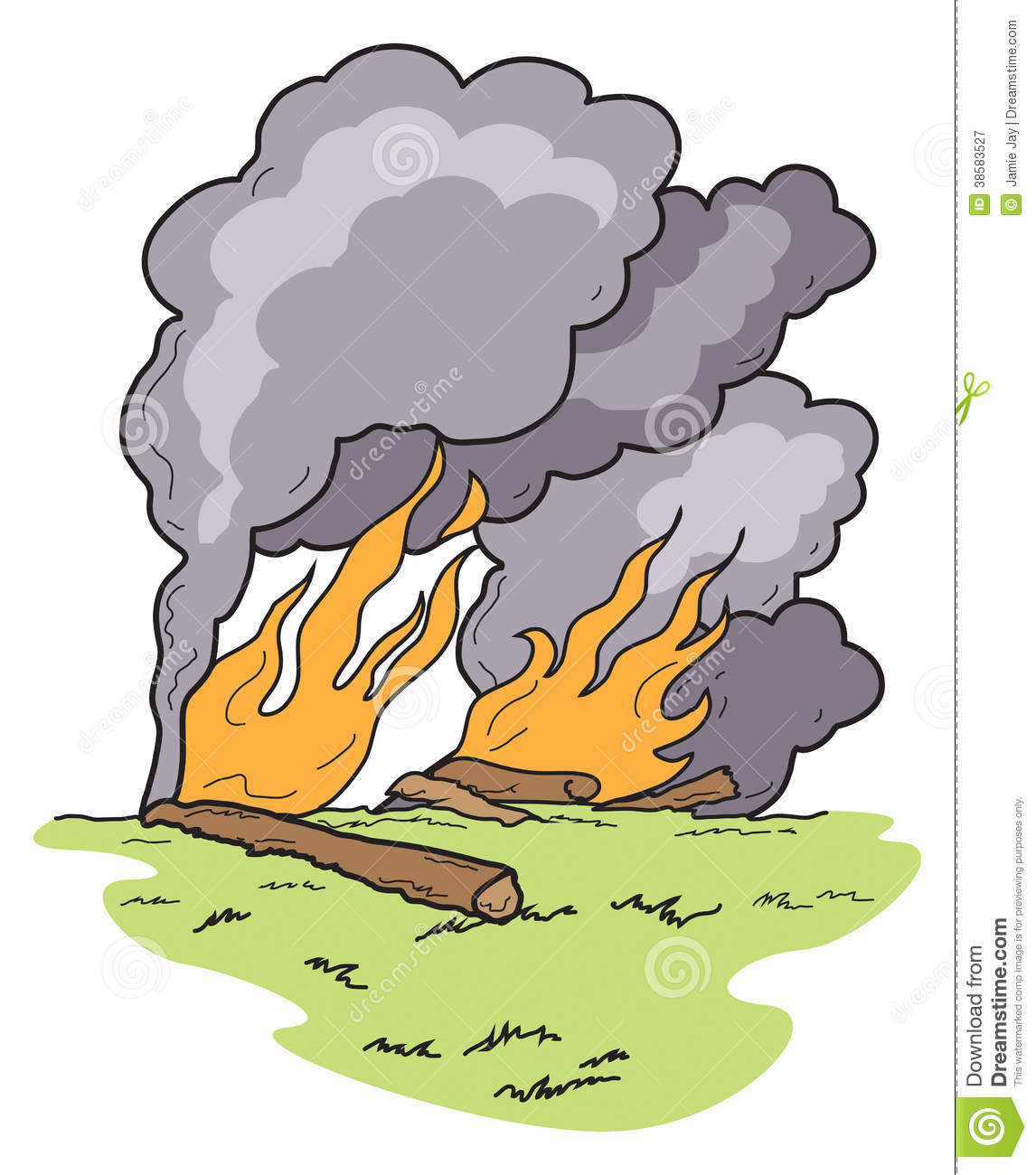 Fire With Smoke Clipart.