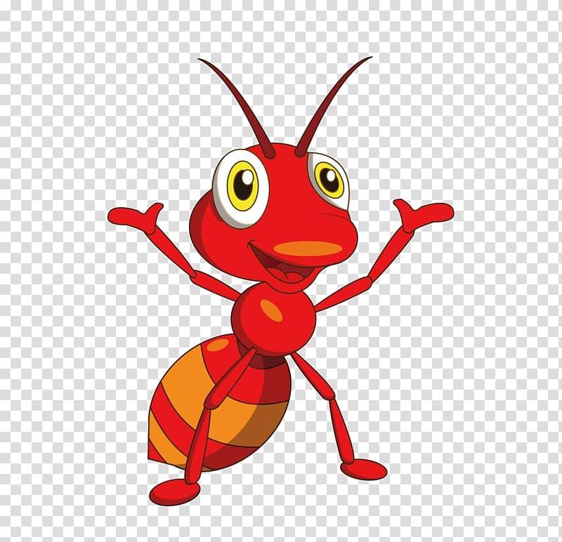Red fire ant illustration, Ant Adobe Illustrator.
