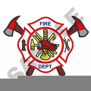 Fire Clipart Badge.