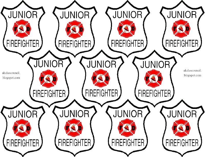 Firefighter Badge Outline.