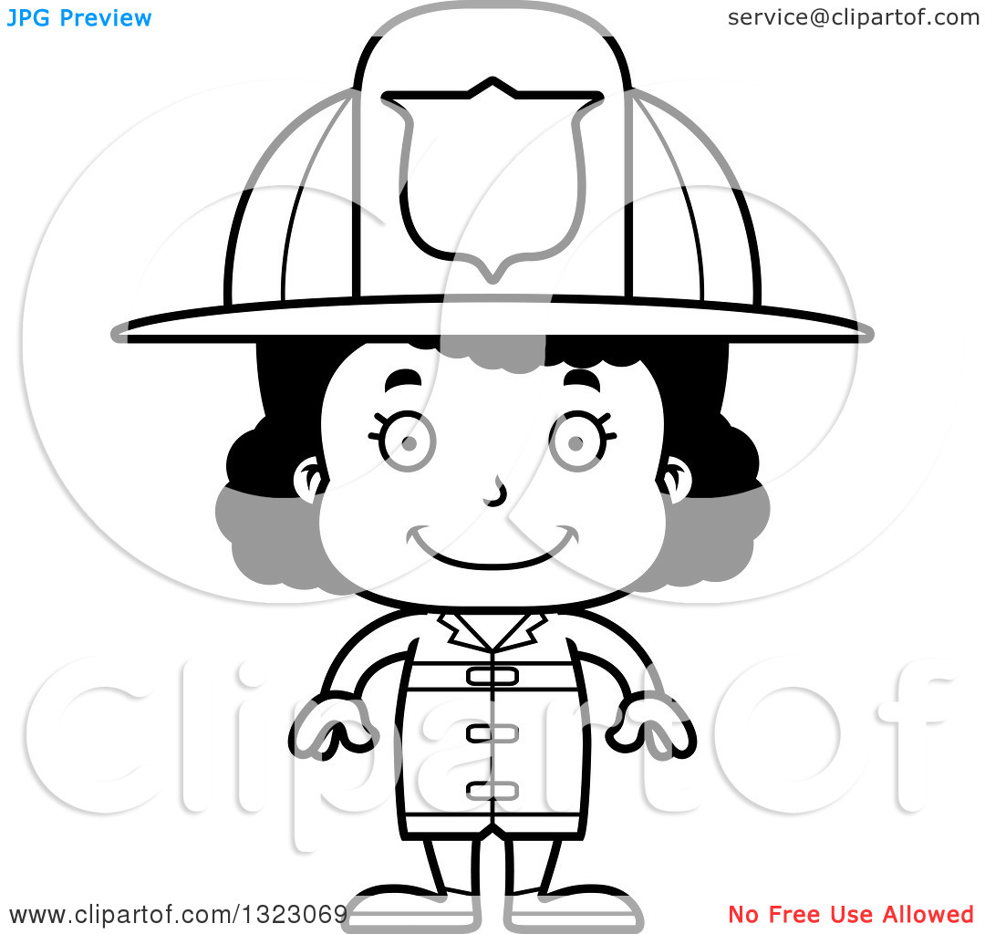 Firefighter Outline With Firefighter Badge Clipart : Firefighter.