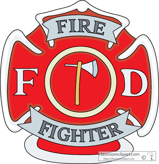 Firefighter Badge Clipart.