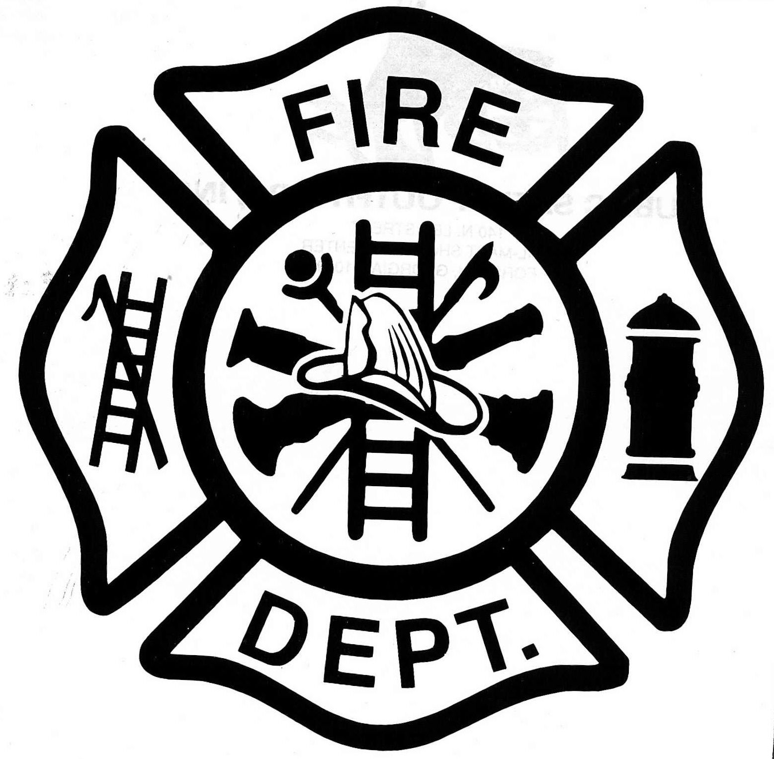 Fire Badge Clipart.