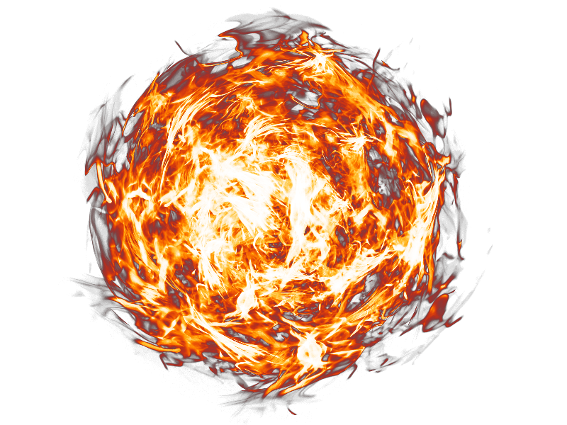 Fireball PNG Transparent Background (Fire.