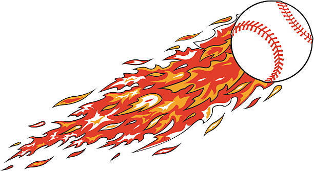 Best Clip Art Of A Baseball Fire Illustrations, Royalty.