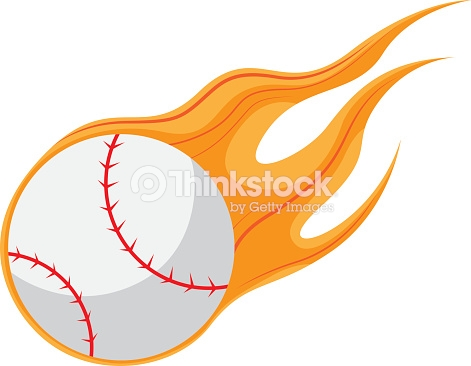 Fire Baseball Vector And Icon stock vector.