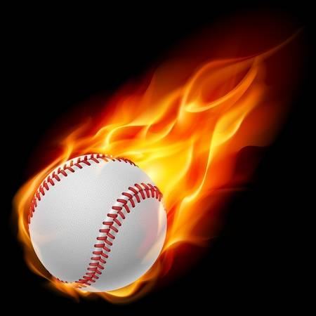1,153 Baseball Fire Stock Vector Illustration And Royalty Free.