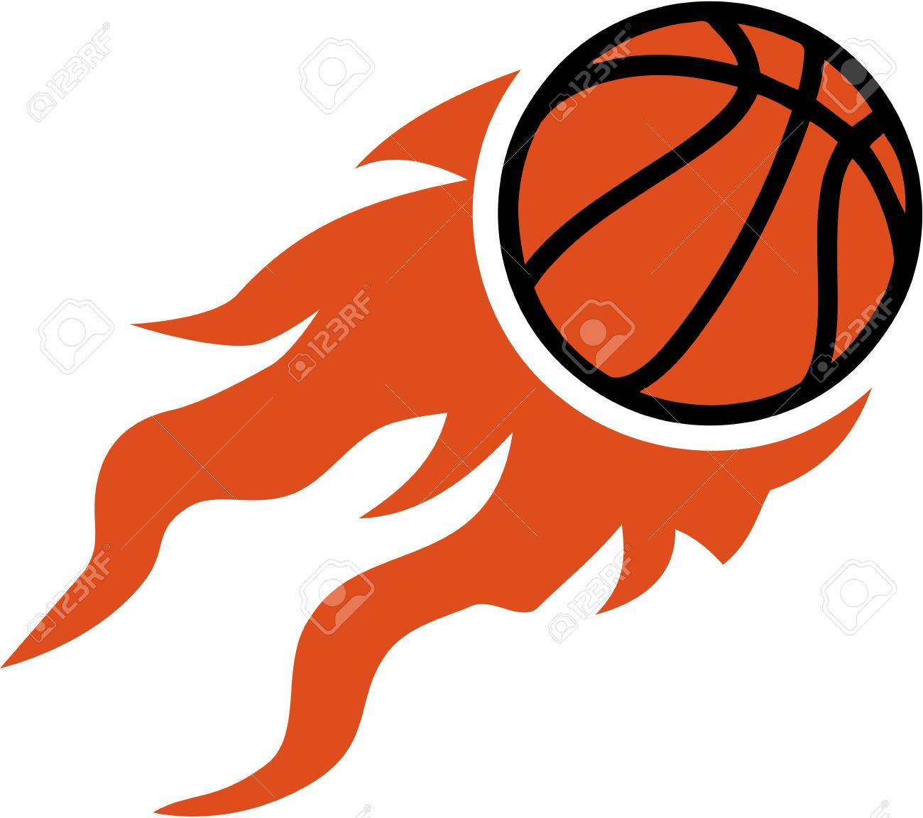Fire Basketball Clipart.