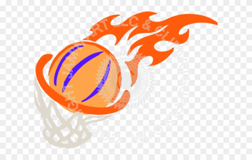 Basketball Fire Cliparts.