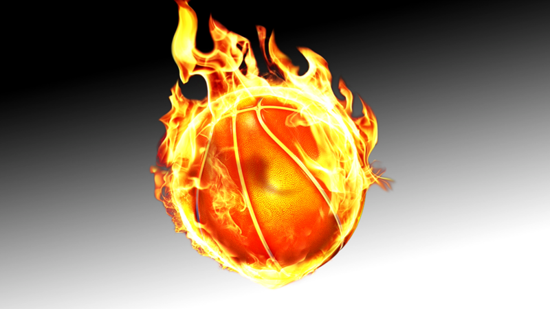 Download Free png Itu0027s a basketball ON FIRE.