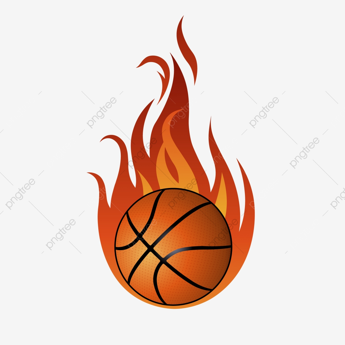 Burning Basketball With Fire Exaggeration Effect Material.