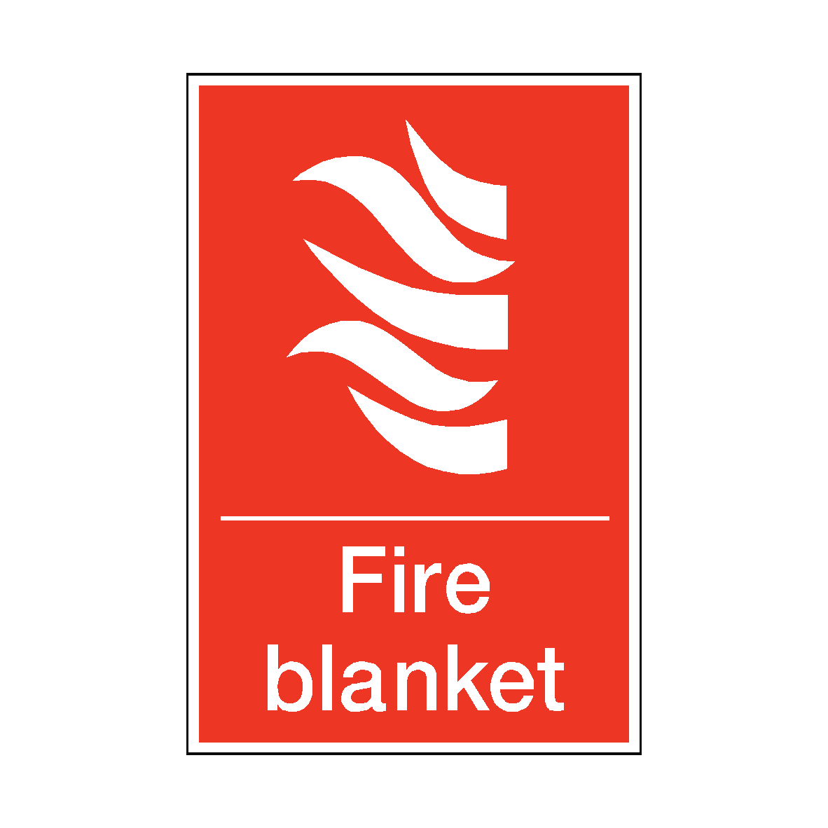 Fire Blanket Sticker.