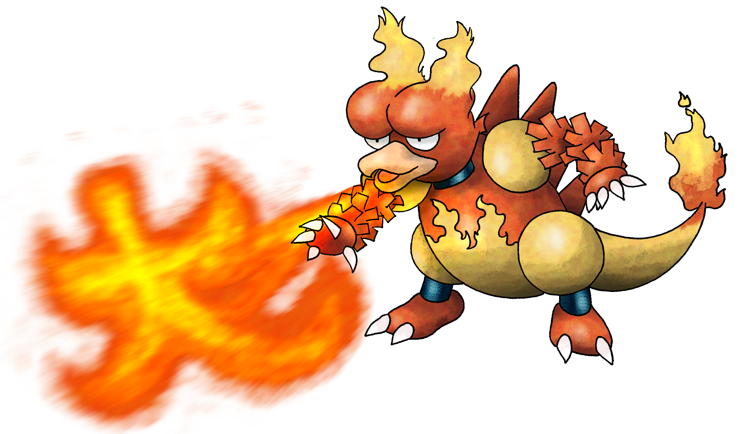 126 Magmar used Fire Blast and Fire Spin!.