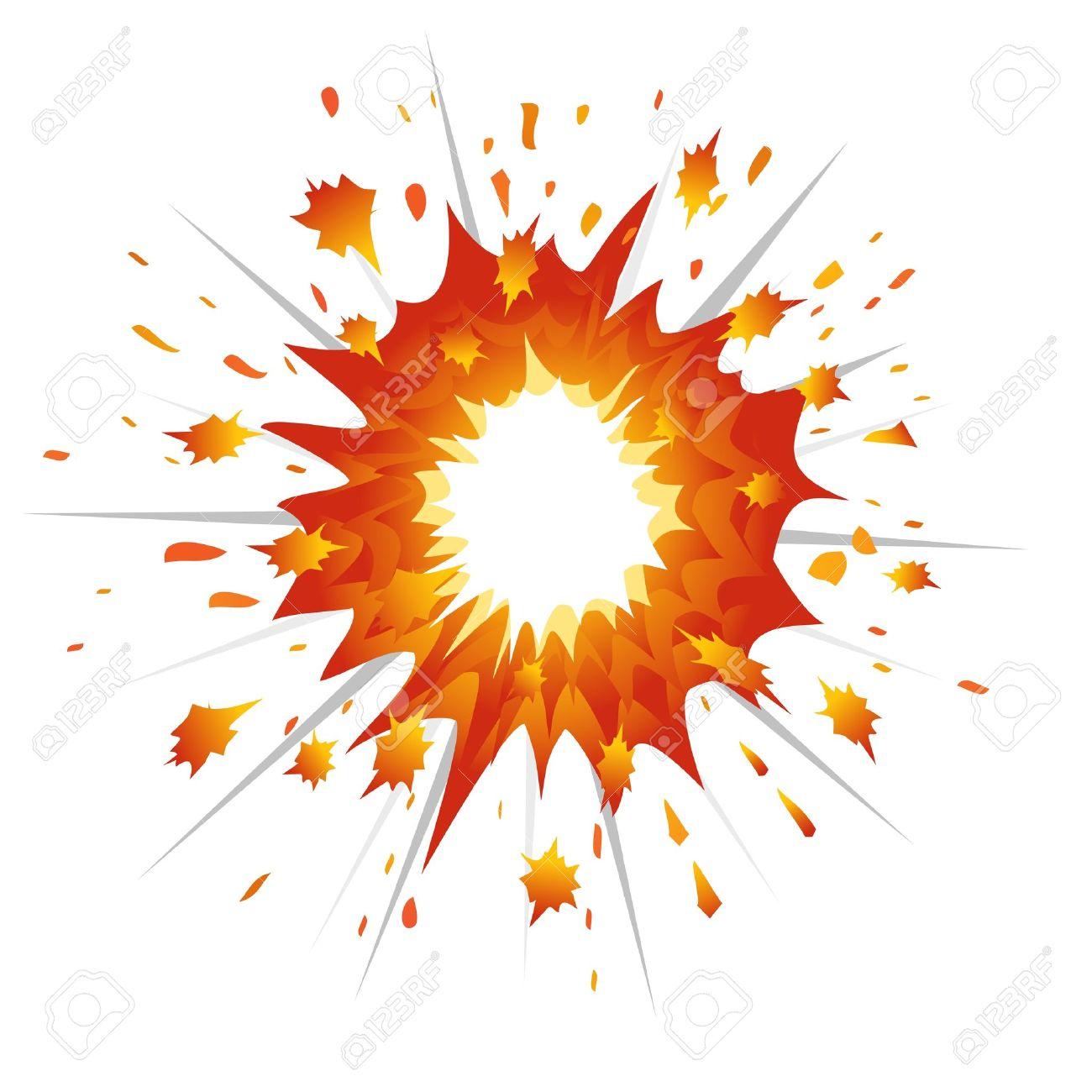 Explosion. Vector.