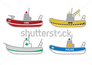 Rescue boat clipart.