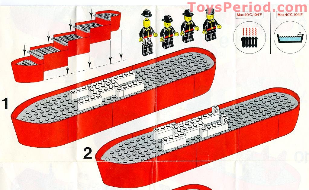 LEGO 4025 Fire Boat Set Parts Inventory and Instructions.