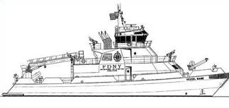 Free Fire Boat Clipart.