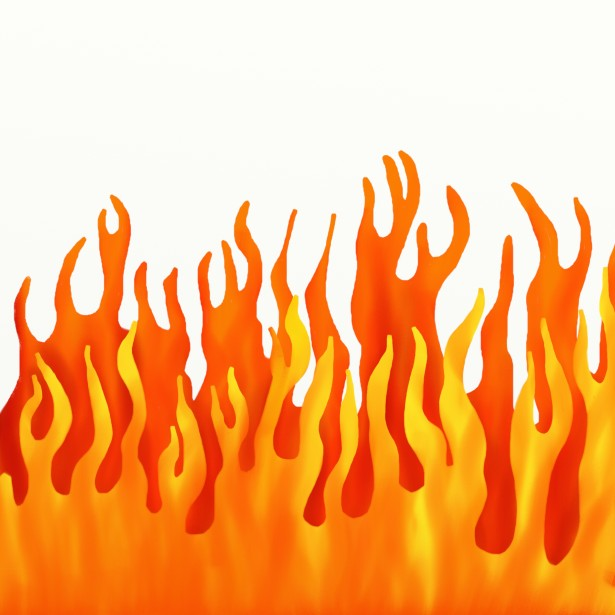 Fire Border Clip Art Free Stock Photo.