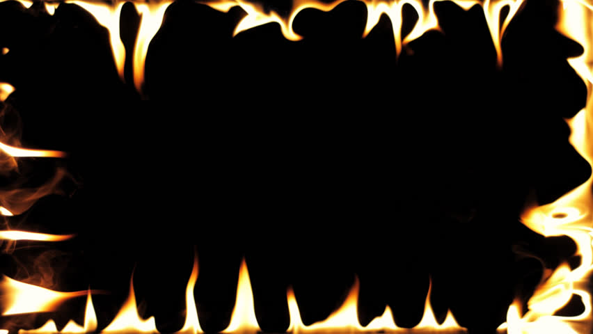 Highly Detailed Flame Border . Stock Footage Video (100% Royalty.
