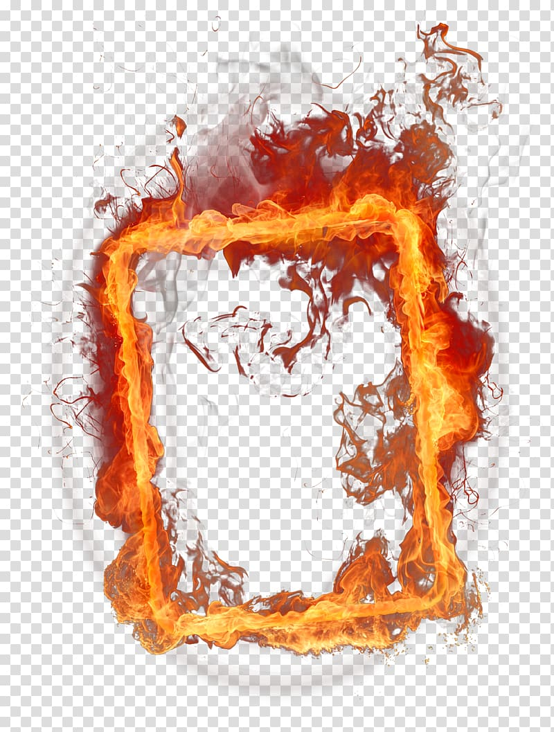 Fire , Fire Frame , box of flames transparent background PNG.
