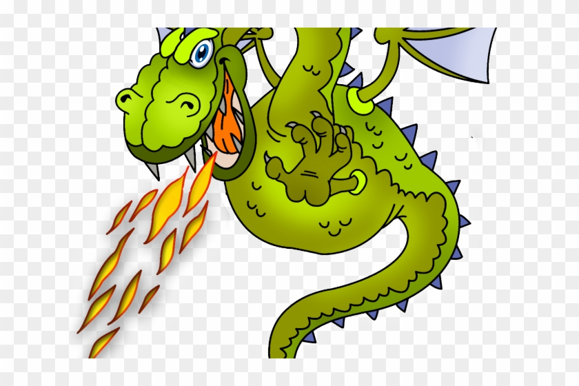 Mythical Clipart Fire Breathing Dragon.