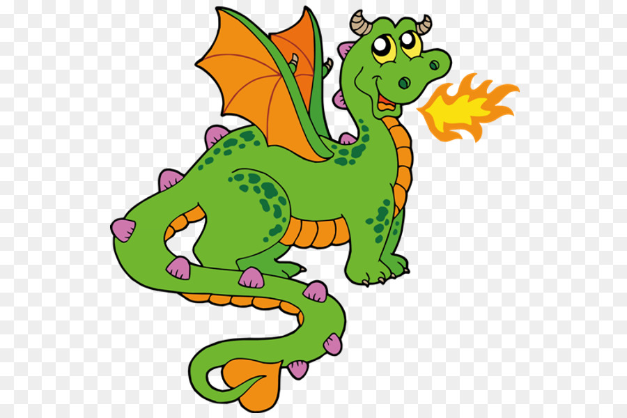 Fire Breathing Dragon png download.