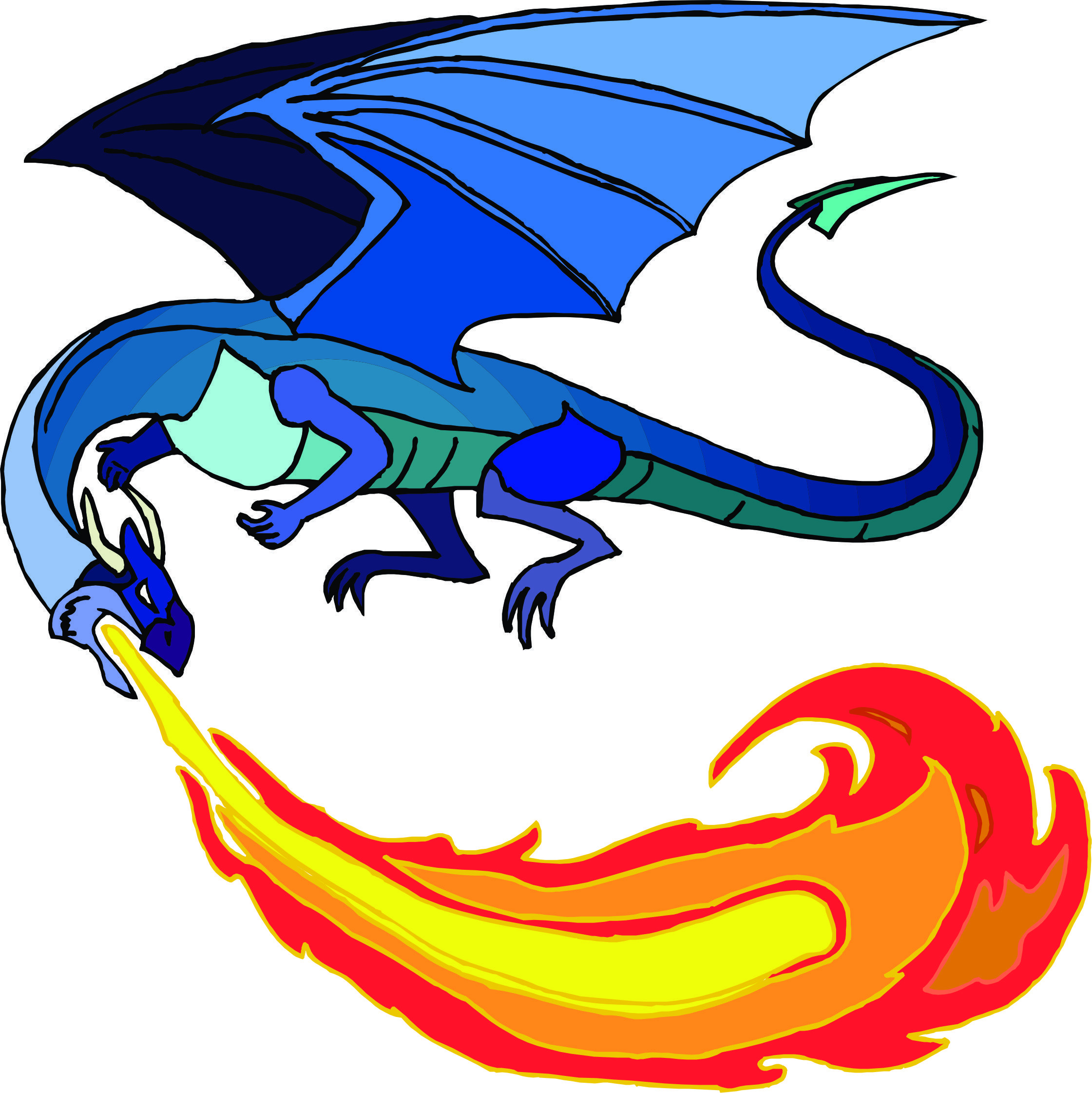 Fire breathing dragon clipart 9 » Clipart Station.