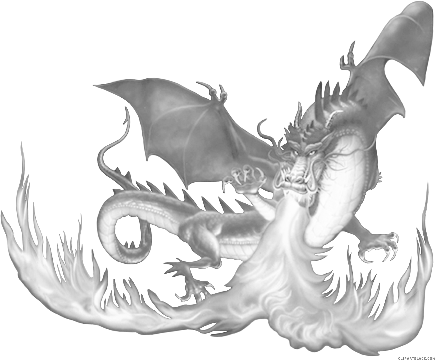 Fire Breathing Dragon Clipart.