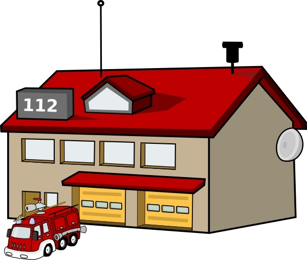 Fire Station clip art Free vector in Open office drawing svg.