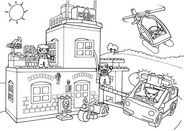 police station building coloring pages - photo#18