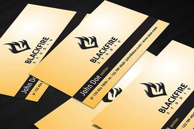 Black Fire Business Card Clipart Picture Free Download.