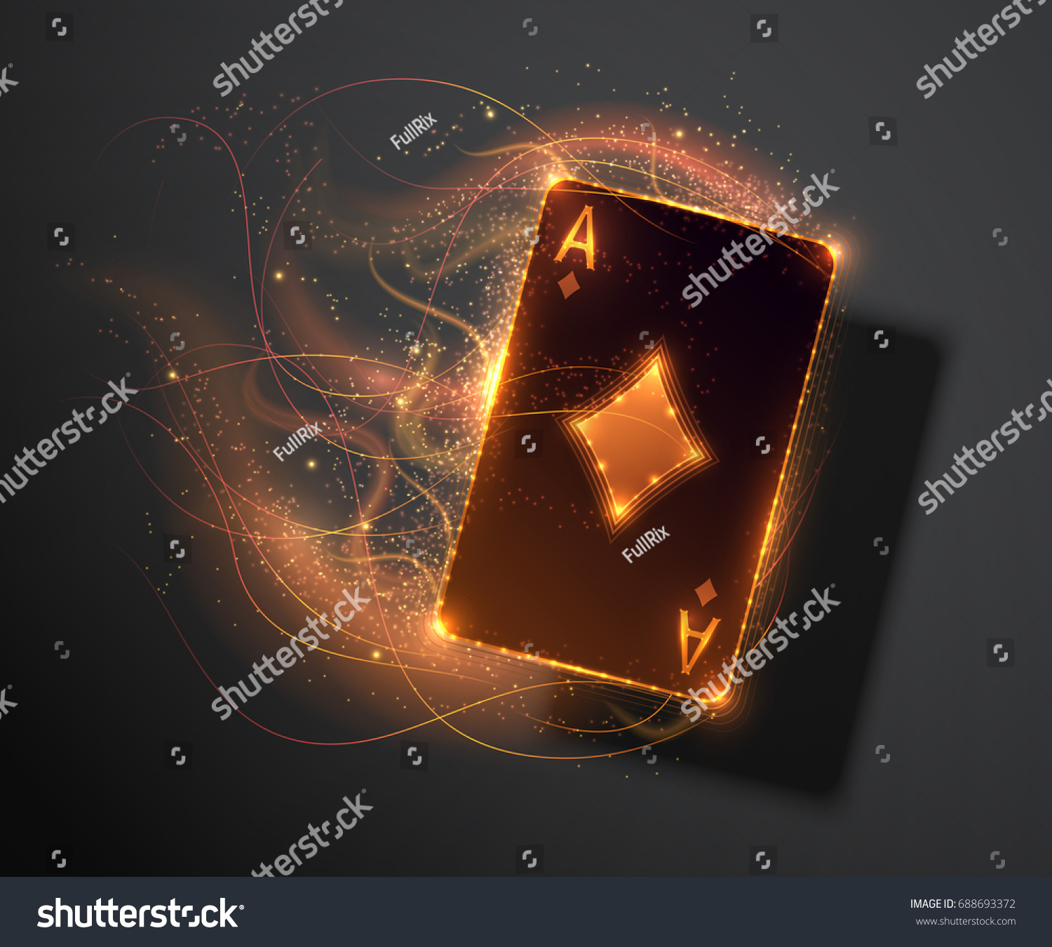 Ace Card Fire Effect Poker Casino Stock Vector (Royalty Free) 688693372.
