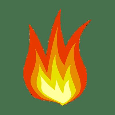 Cartoon Flame Png Vector, Clipart, PSD.