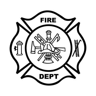 Fire Department Badge Coloring Page.