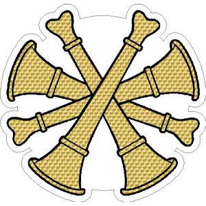 Deputy Fire Chief Gold Leaf Bugles.